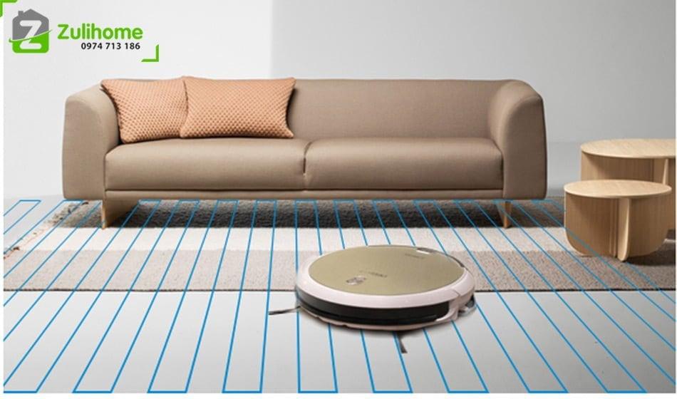 Ecovacs Deebot DG800 có hệ thống di chuyển làm sạch thông minh