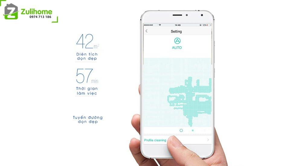 Ecovacs Deebot DT85G   Kiểm soát dễ dàng qua app