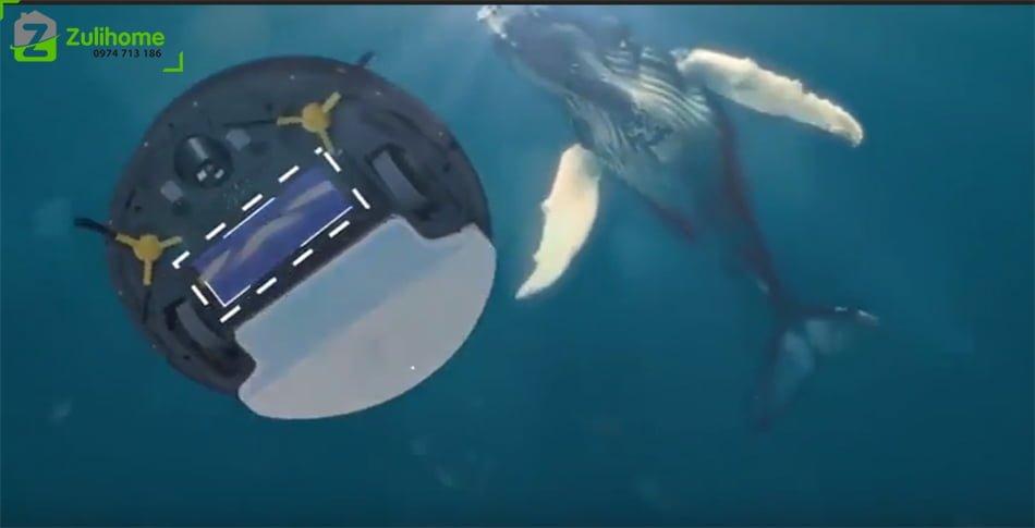 Ecovacs Deebot DT85G   Hệ thống làm sạch cá voi xanh