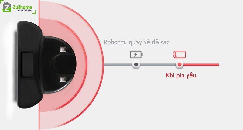 Ecovacs Deebot DF45 có thể tự động sạc