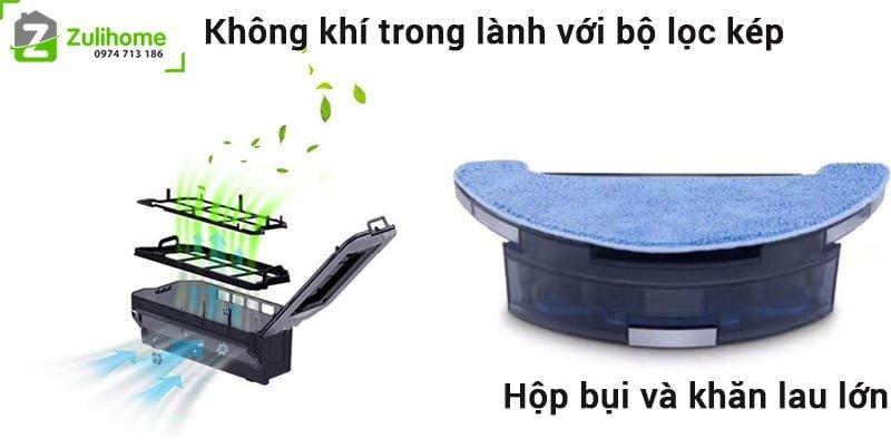 Haier Tab T710L | Bộ lọc kép giúp không khí trong lành