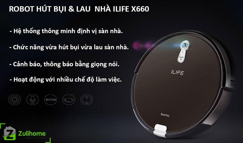 ILIFE X660 | Tích hợp nhiều công nghệ hiện đại