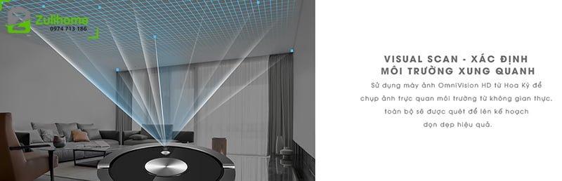ILIFE X800 | Visual Scan giúp xác định môi trường xung quanh