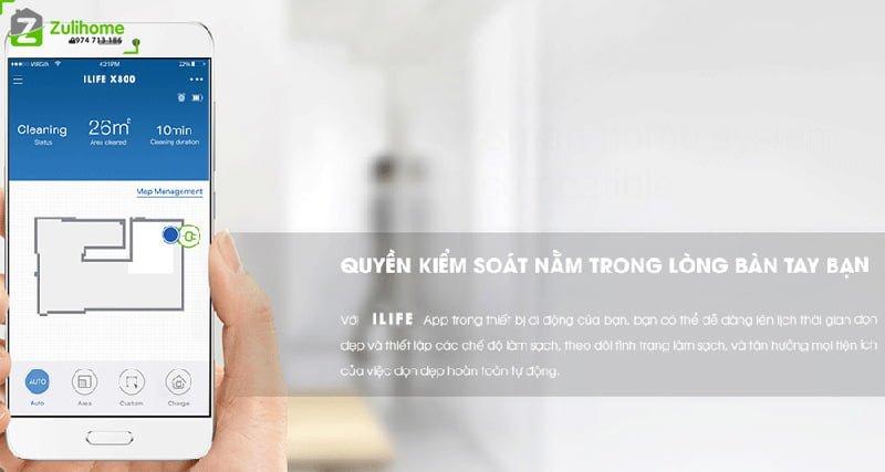 ILIFE X800 | Kiểm soát từ xa bằng App