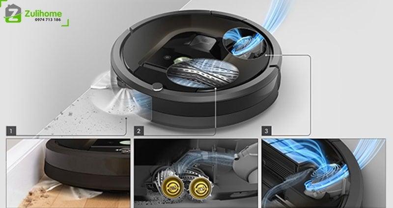 Irobot Roomba 960 | Hệ thống làm sạch ba giai đoạn