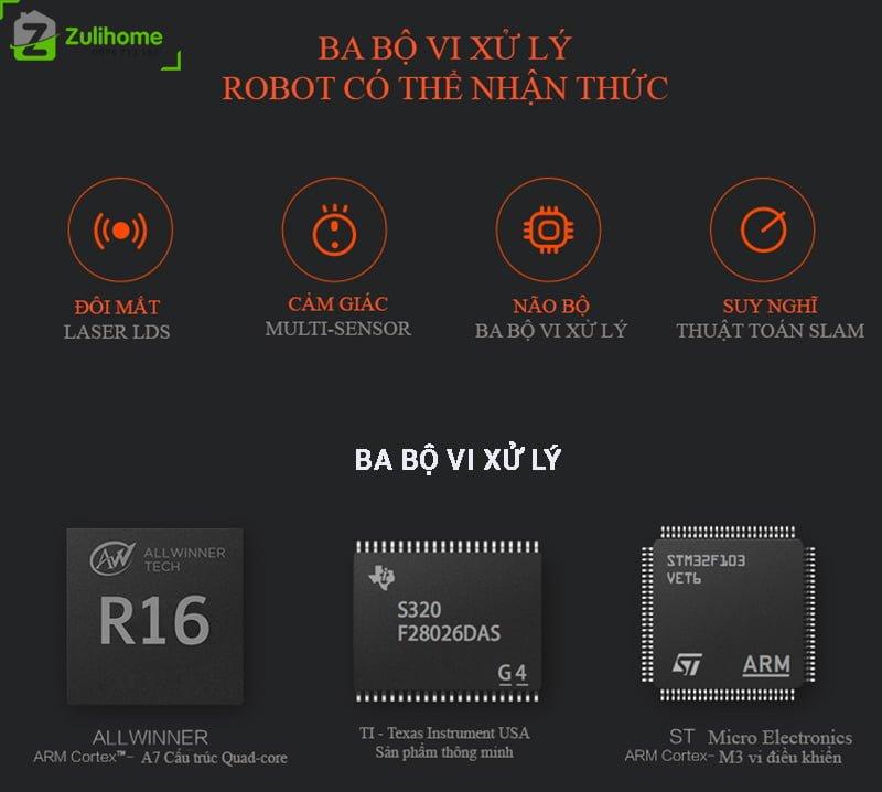 Xiaomi Roborock Gen 2 - S502-00 có ba bộ vi xử lý hiện đại