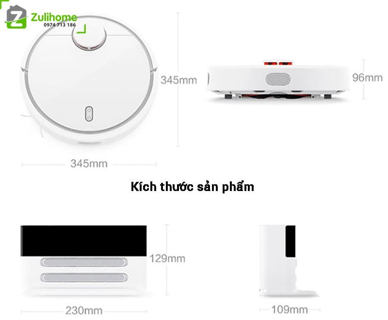 Xiaomi Mi Vacuum có kích thước nhỏ gọn