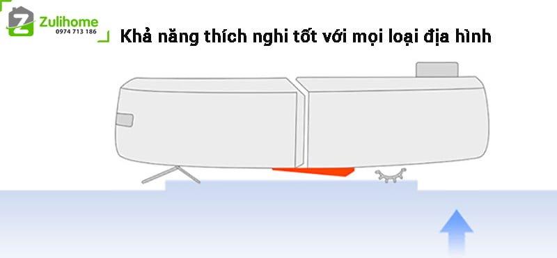 Xiaomi Mi Vacuum thích nghi tốt với mọi địa hình