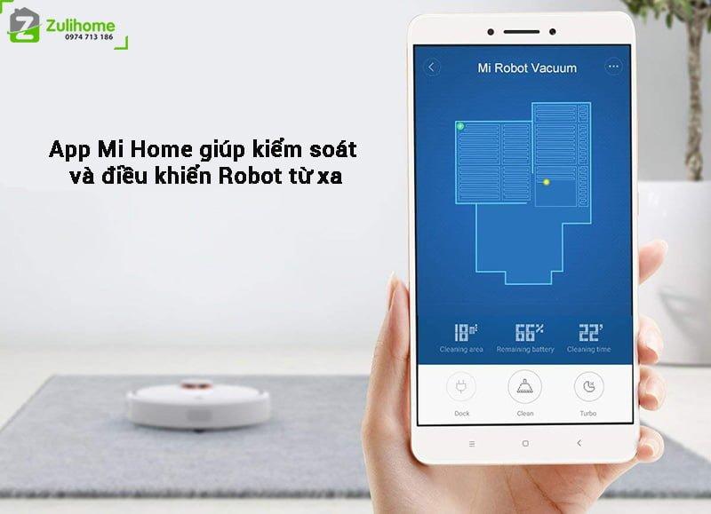 Xiaomi Mi Vacuum được kiểm soát bằng app