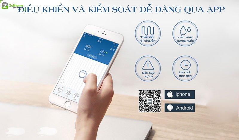 Ecovacs Deebot DF45 được điều khiển qua app