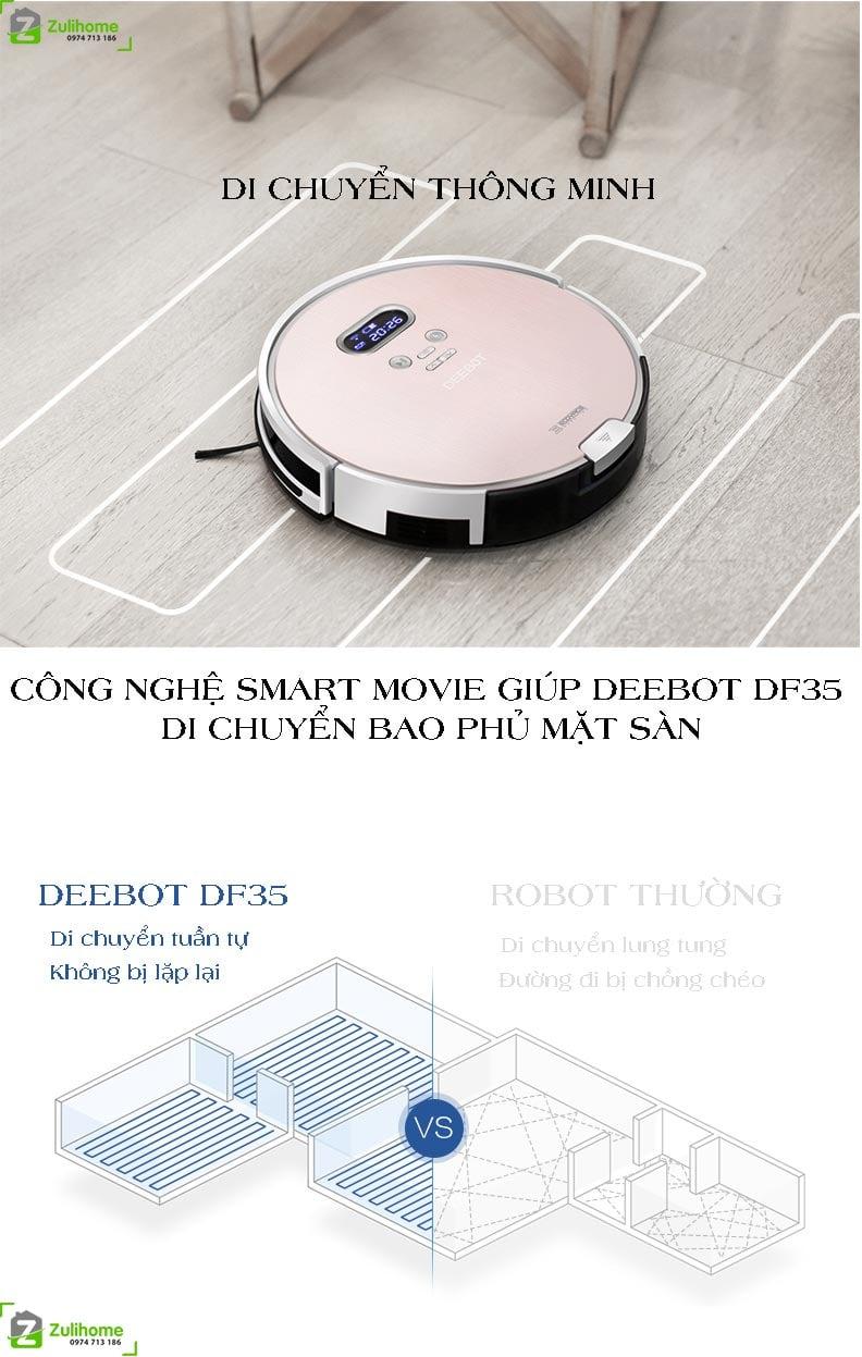 Ecovacs Deebot DF35 với hệ thống di chuyển thông minh