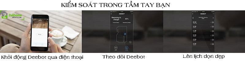 Ecovacs Deebot DE55 được điểu khiển qua app