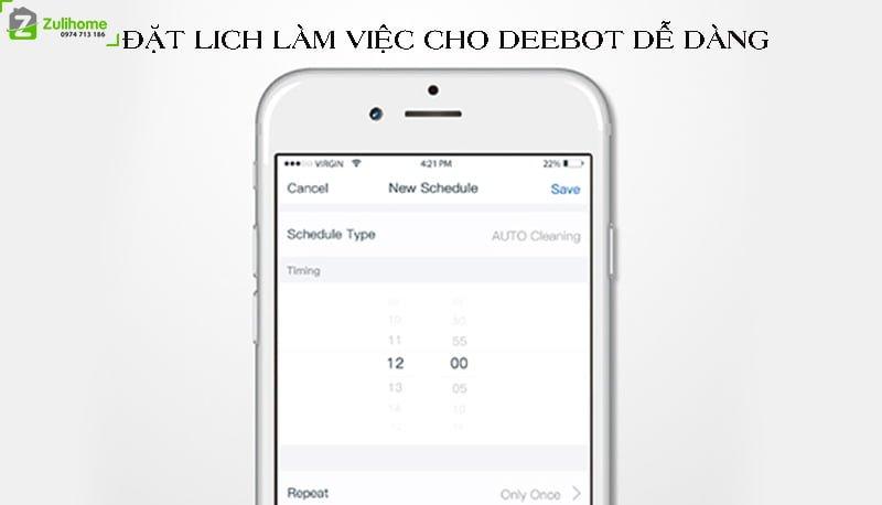 Ecovacs Deebot DK35 được điều khiển qua app