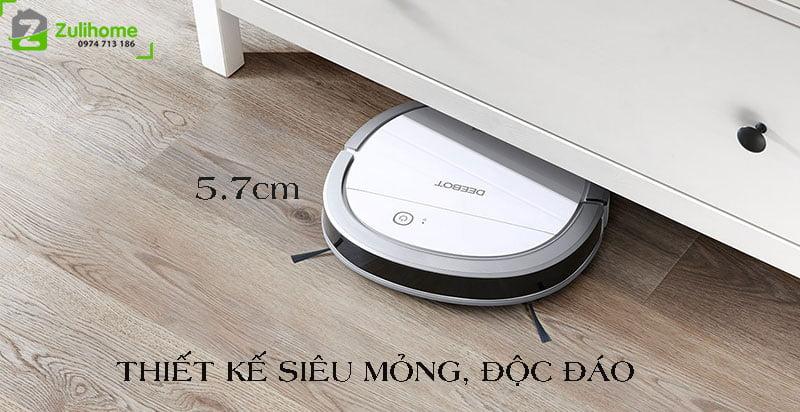 Ecovacs Deebot DK35 có thiết kế siêu mỏng và độc đáo