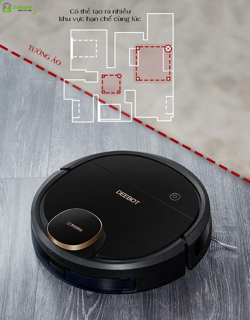Ecovacs Deebot DN520 | Thiết lập tường ảo tạo ranh giới di chuyển