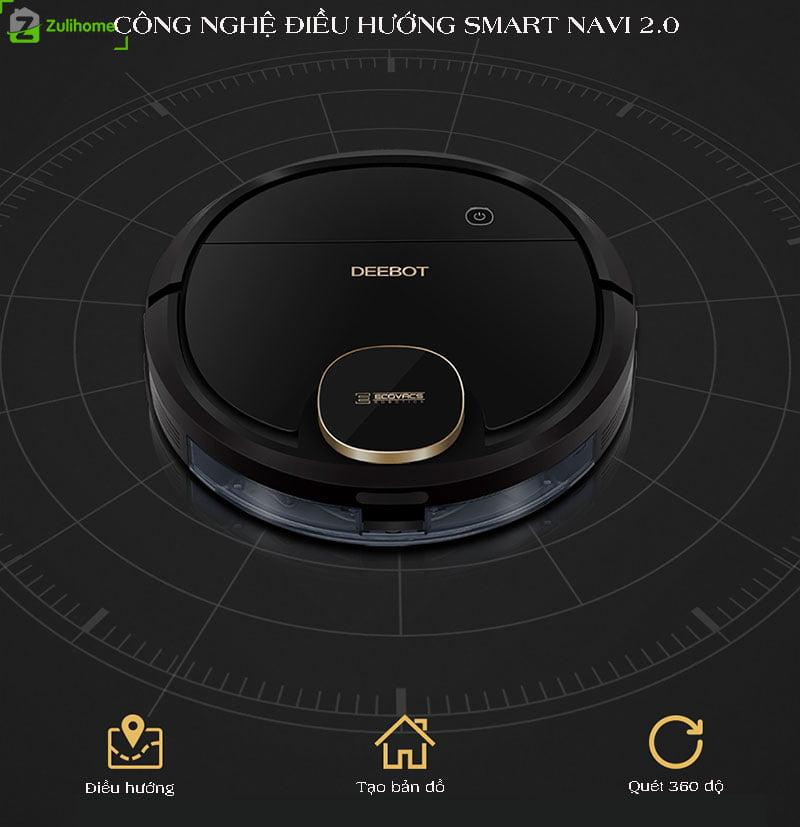 Ecovacs Deebot DN520 | Hệ thống điều hướng Smart Navi 2.0