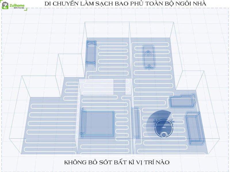 Ecovacs Deebot DN55 | Di chuyển làm sạch bao phủ toàn bộ ngôi nhà