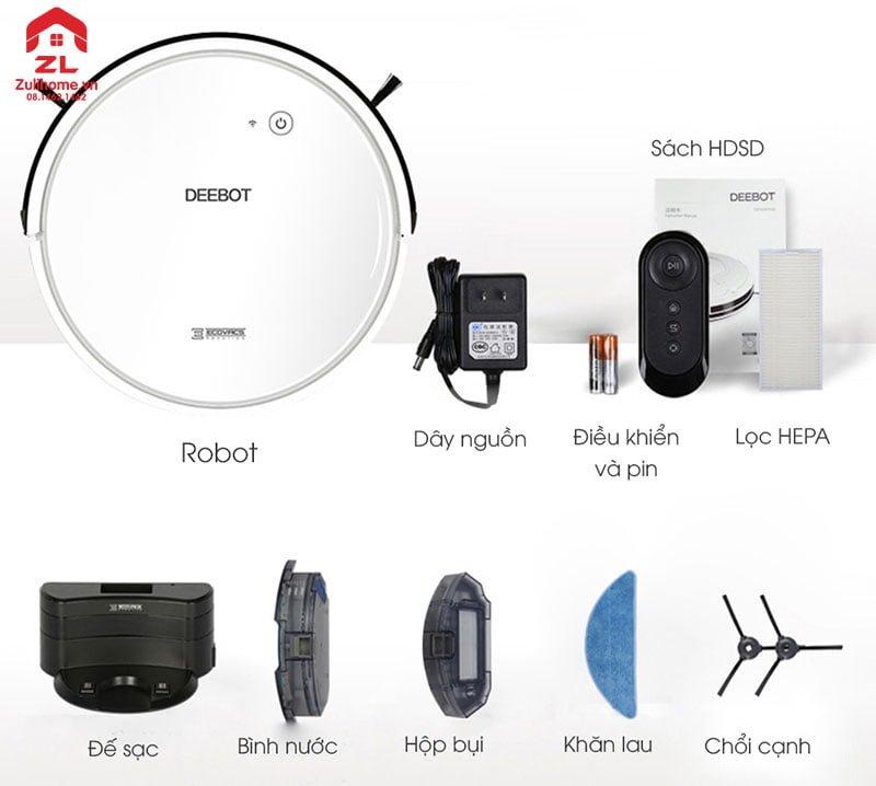 Ecovacs Deebot DO37 có thiết kế tinh tế và sang trọng