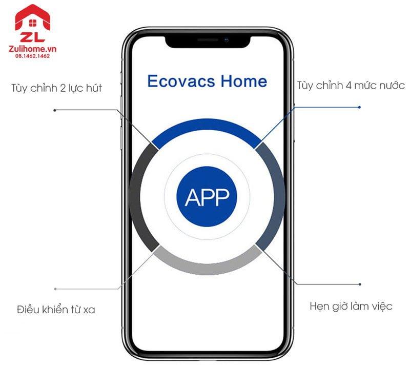 Ecovacs Deebot DO37 được kiểm soát qua app
