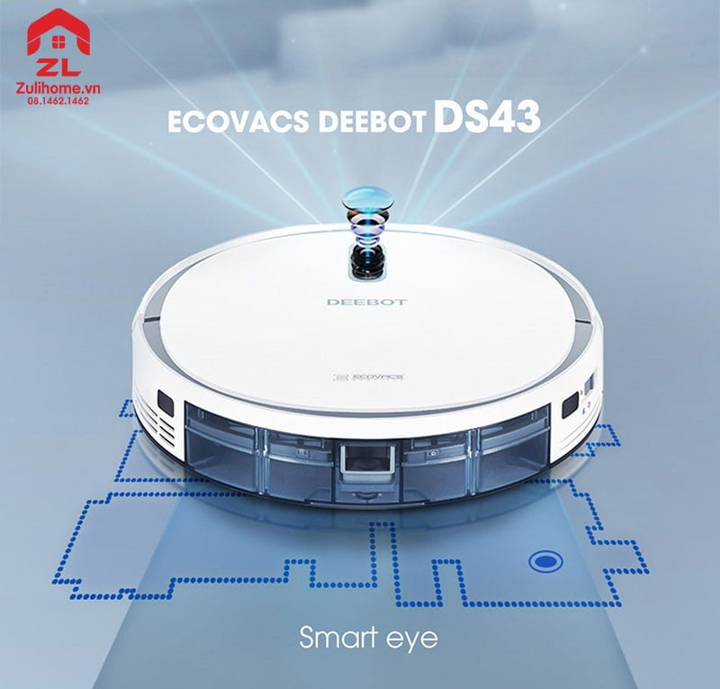 Ecovacs Deebot DS43 | Điều hướng trực quan bằng mắt camera