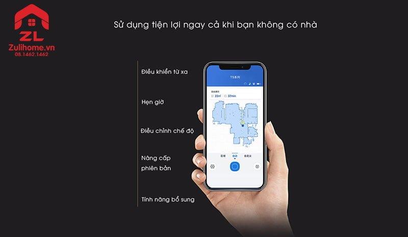 Ecovacs Deebot T5 Hero   Kiểm soát dễ dàng với app