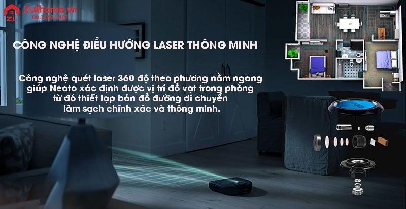 Neato Botvac D5 Connected | Hệ thống điều hướng laser thông minh