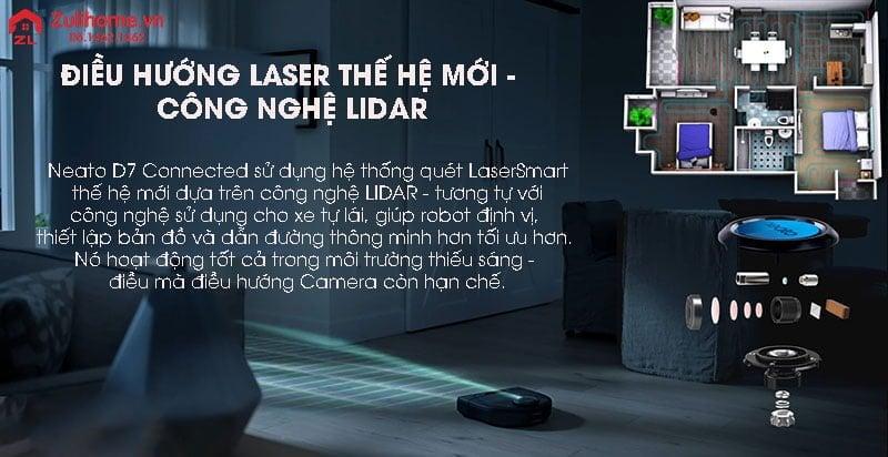 Neato Botvac D7 Connected   Hệ thống điều hướng laser thông minh