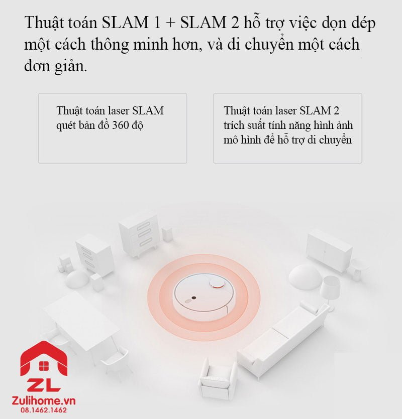 Xiaomi mi robot vacuum 1s - model 2019 | Thuật toán slam