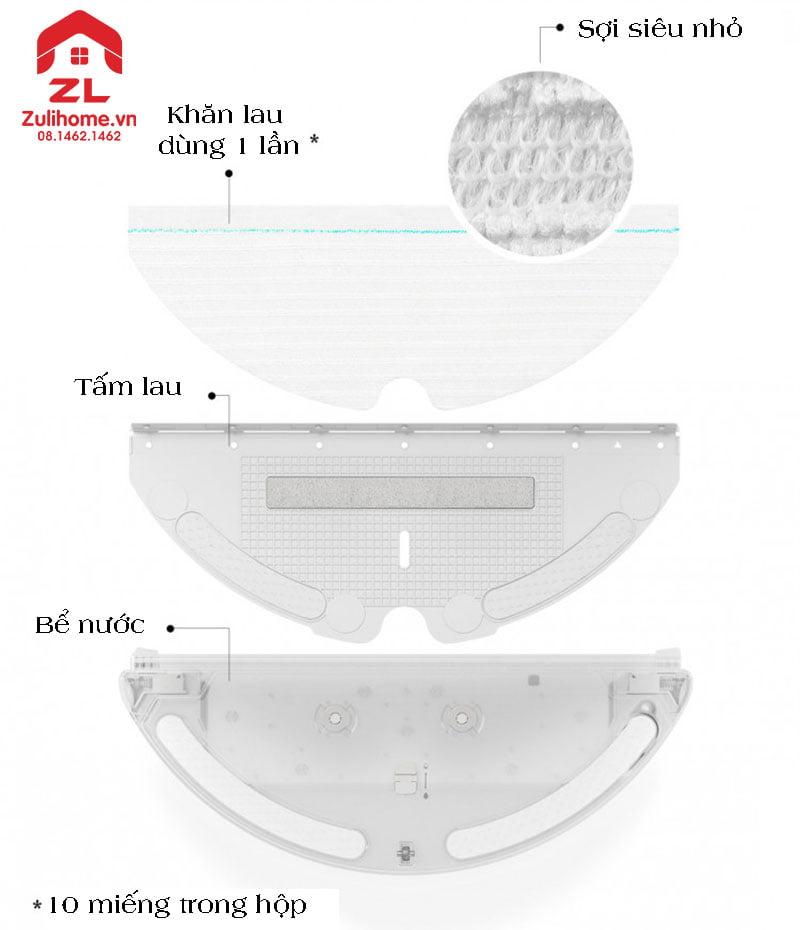 Xiaomi Roborock T6 với khăn lau tiện dụng