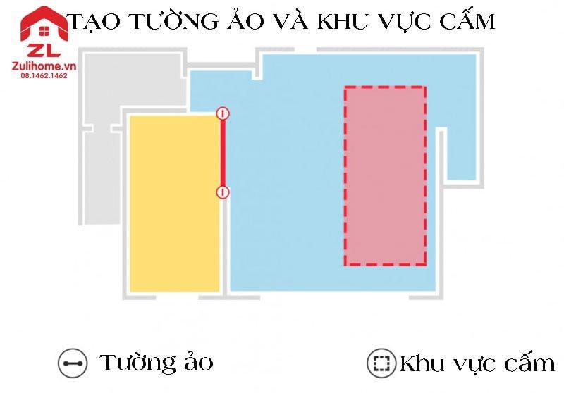 Xiaomi Roborock gen 3 T6 tạo tường ảo và khu vực cấm