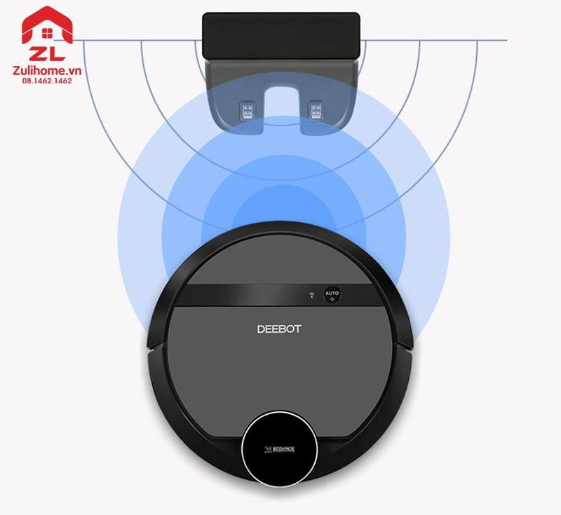 Ecovacs Deebot DE53 có thể tự động sạc khi pin yếu
