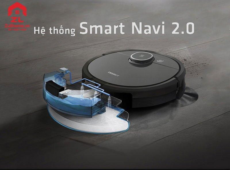 Ecovacs Deebot T5 Hero   Hệ thống Smart Navi 2.0