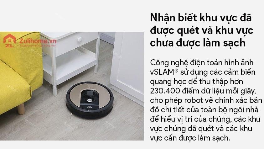 Irobot Roomba 961 | Công nghệ điện toán hình ảnh vSLAM