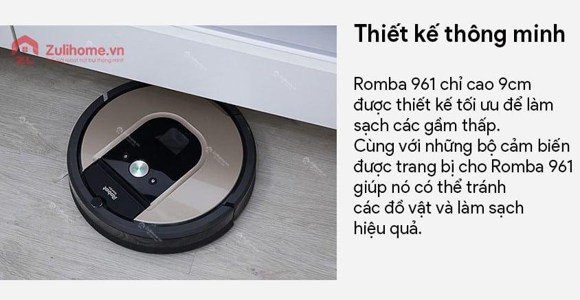 Irobot Roomba 961 | Thiết kế thông minh