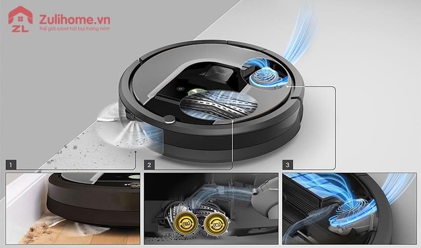 Irobot Roomba 961 | Hệ thống làm sạch ba bước