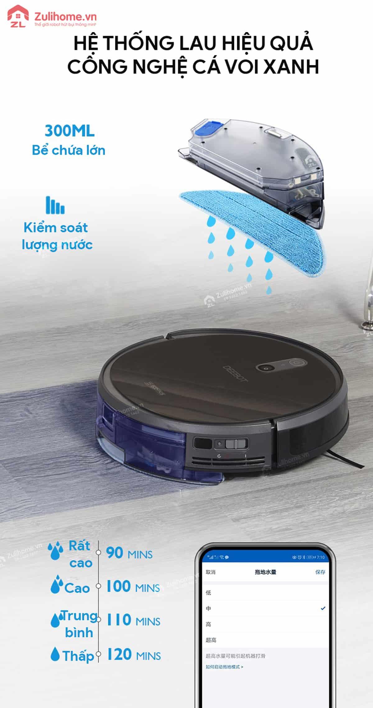 Ecovacs Deebot DS37 | Công nghệ cá voi xanh