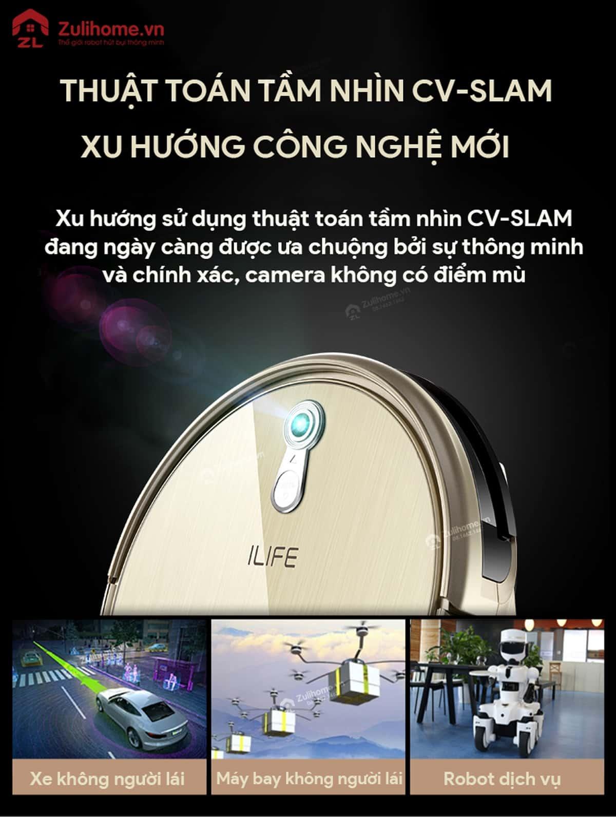 ILIFE X661 | Thuật toán tầm nhìn CV SLAM