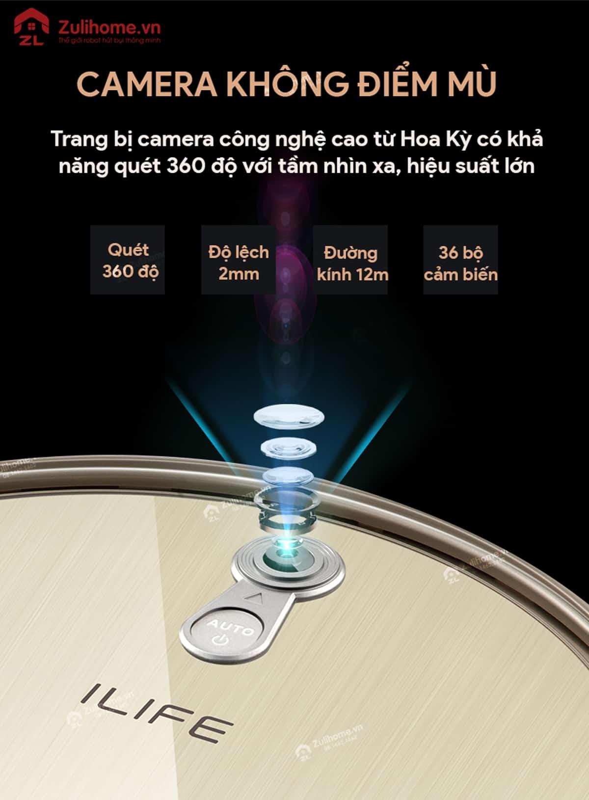 ILIFE X661 | Camera không điểm mù