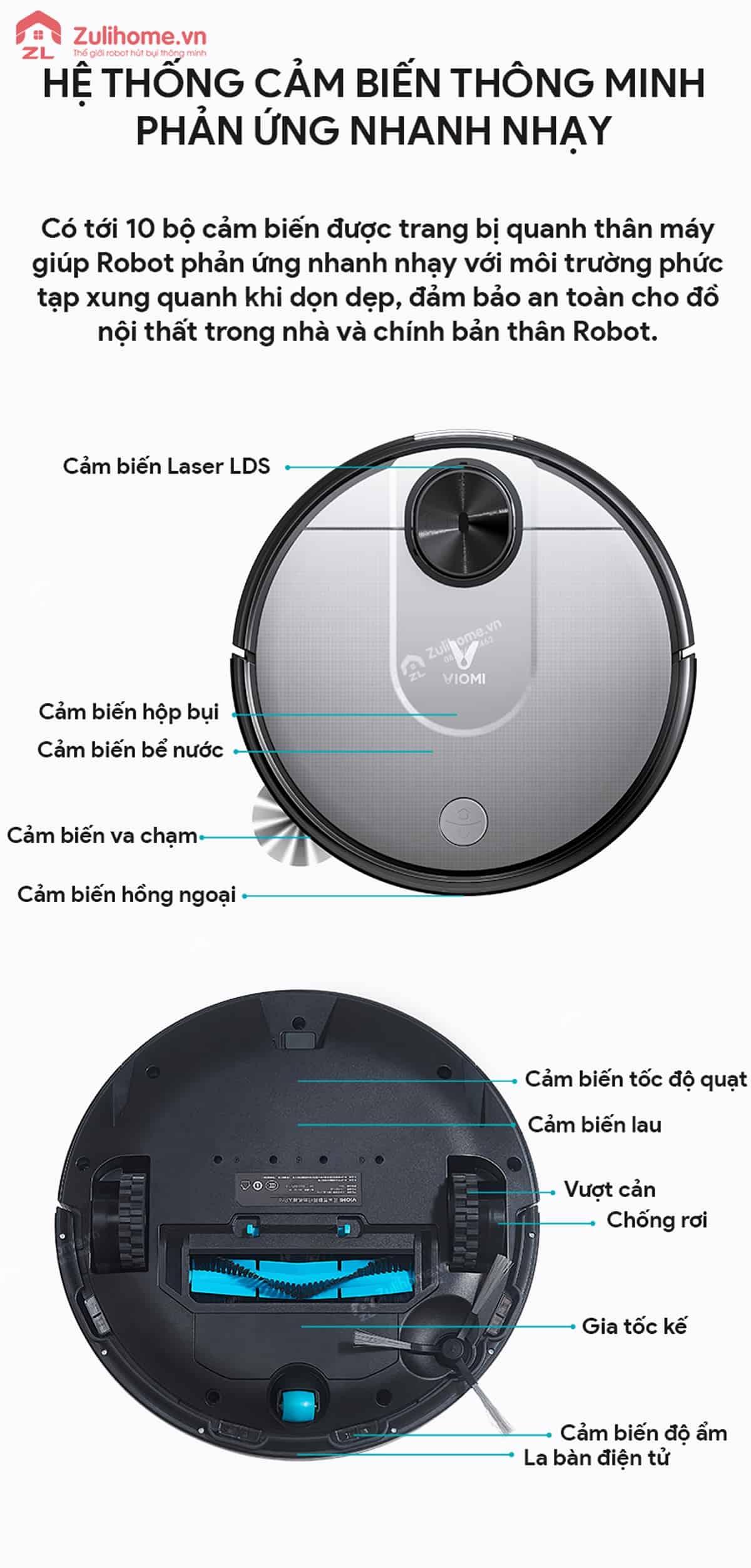 Xiaomi Viomi Yunmi được trang bị hệ thống cảm biến thông minh