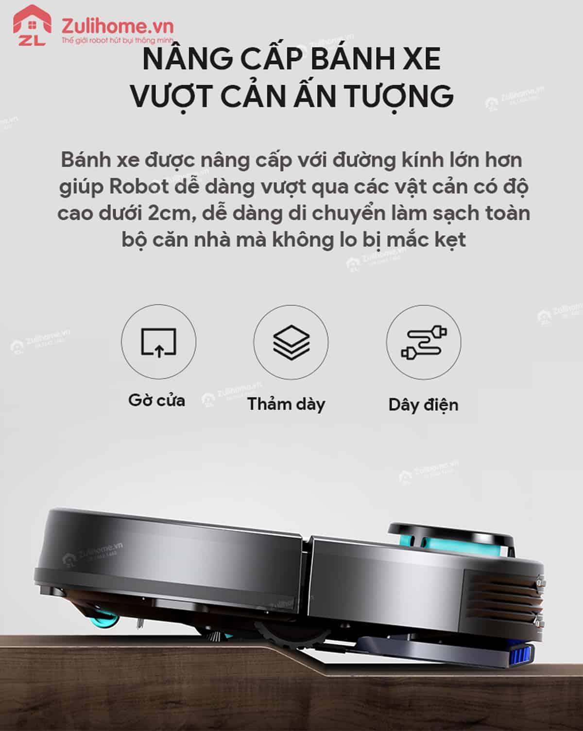 Xiaomi Viomi Yunmi có khả năng vượt cản ấn tượng