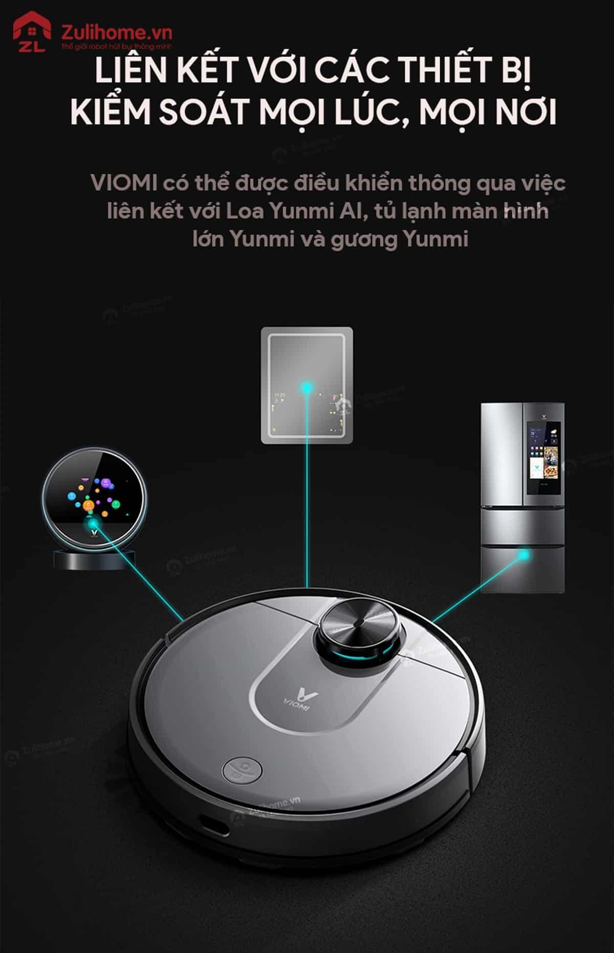 Xiaomi Viomi Yunmi được liên kết với các thiết bị khác