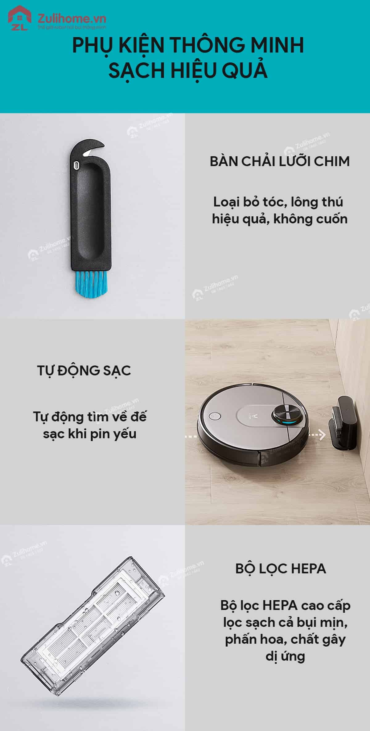 Xiaomi Viomi Yunmi có bộ phụ kiện thông minh