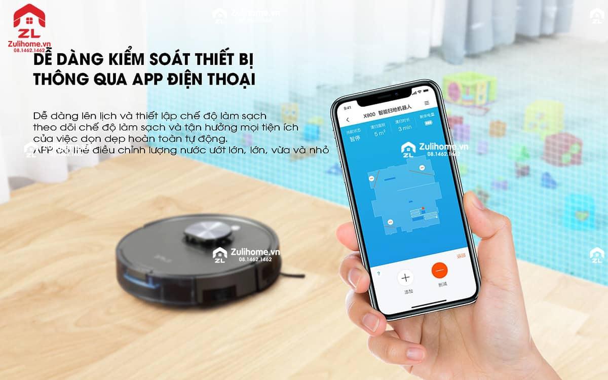 ILIFE X900 | Kiểm soát từ xa bằng app