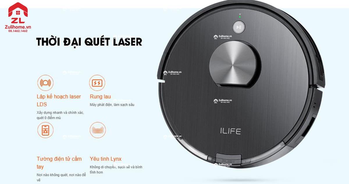 ILIFE X900 | Công nghệ quét laser hiện đại