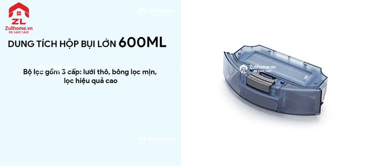 ILIFE X900 | Dung tích hộp bụi lớn