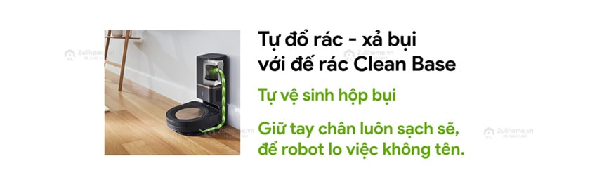 Irobot Roomba S9+ | Tự đổ rác với đế rác Clean Base