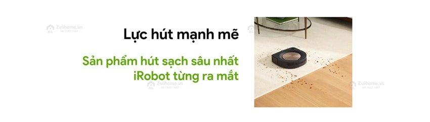 Irobot Roomba S9+ | Lực hút mạnh mẽ