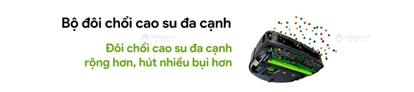 Irobot Roomba S9+ | Bộ đôi chổi cao su đa cạnh