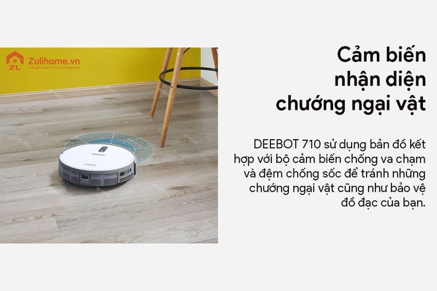 Ecovacs Deebot 710 được trang bị cảm biến chướng ngại vật